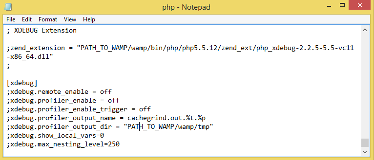 Php ini disable xdebug